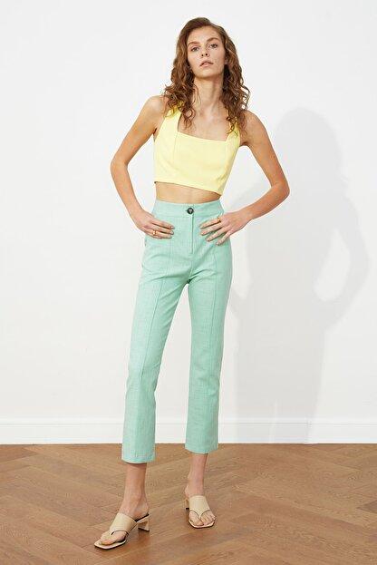 TRENDYOLMİLLA Mint Klasik Pantolon TWOSS20PL0008