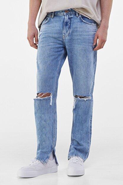 Bershka Erkek Mavi Slim Fit Jean