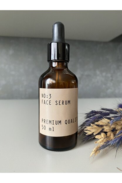 CASANATURA Face Serum Kraft Etiket Amber Cam Şişe 50 ml Cam Damlalıklı