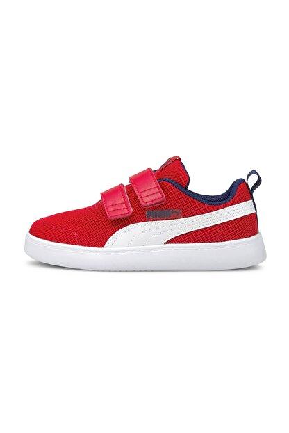 Puma Courtflex v2 Mesh V PS Poppy Red-Puma Wh