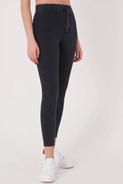 Addax Kadın Füme Yüksek Bel Pantolon Pn10915 - G8Pnn Adx-0000013630