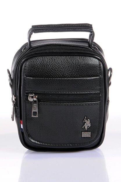 US Polo Assn Unisex Siyah El Çantası Plevr8415