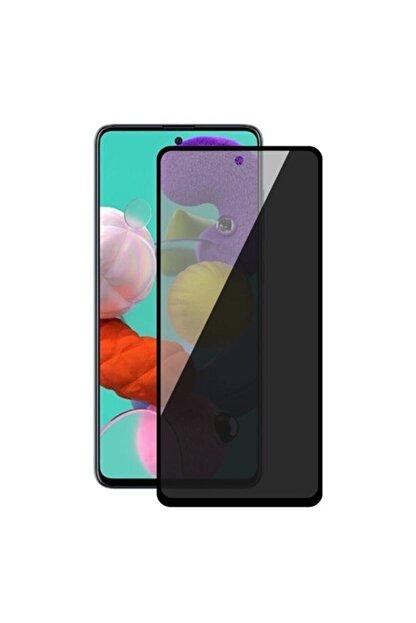 EPRO Samsung M51 Siyah Gizlilik Filtreli Privacy Hayalet Ekran Koruyucu Yanlardan Bakıldığında Görünmez