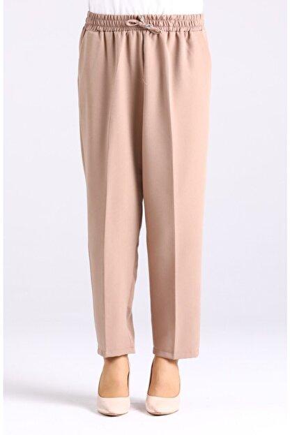 Essah Moda Kadın Vizon Lastikli Havuç Pantolon - Me000276