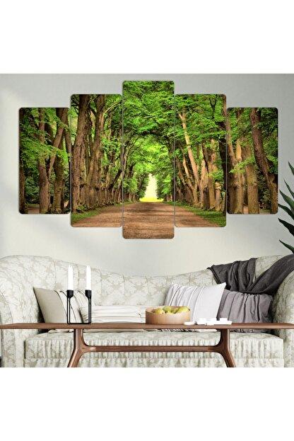 hanhomeart Ağaçlı Yol 5 Parça Mdf Tablo Seti