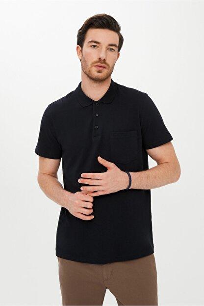 Kiğılı Erkek Siyah Regular Fit Polo Yaka Tişört
