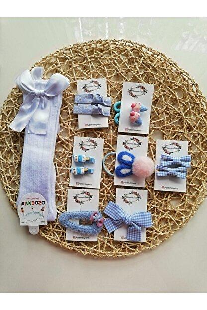 Yasemenpare Kız Çocuk Çoraplı Toka Seti - 12'li Set