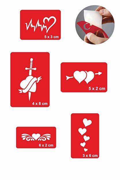 one spray tattoo kalp nabiz dovmesi dovme sablonu ve kina desenleri 5 adet fiyati yorumlari trendyol