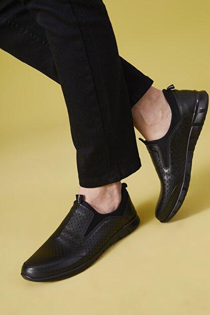 Ziya , Erkek Hakiki Deri Ayakkabı 111415 599295 Sıyah