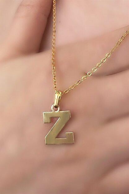 Takıştır Z Harfli Altın Renk Kolye