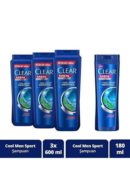 Clear Erkek Şampuan 600 ml X3 + 180 ml