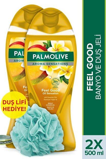Palmolive Aroma Sensations Feel Good Ipeksi Banyo Ve Duş Jeli 500 ml X 2 Adet Duş Lifi Hediye