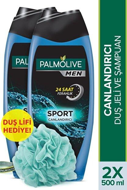 Palmolive Men Sport 3'ü 1 Arada Canlandırıcı Duş Jeli Ve Şampuan 500 ml X 2 Adet Duş Lifi Hediye