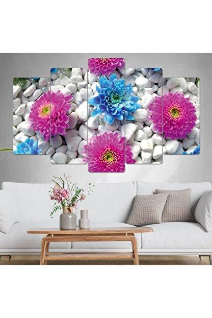 hanhomeart Çiçek Tablo-parçalı Ahşap Duvar Tablo Seti-5pr-0888