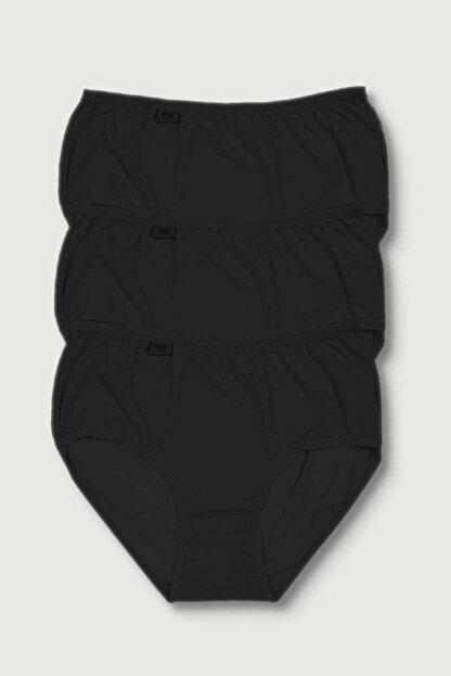 Tutku Kadın Siyah Bato Külot 3lü Paket