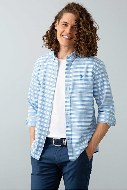 US Polo Assn Mavı Erkek Gömlek