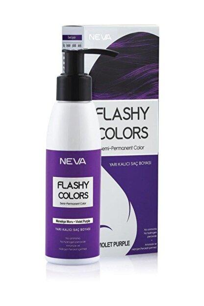 Flashy Colors Neva Yarı Kalıcı Set Saç Boyası Menekşe Moru