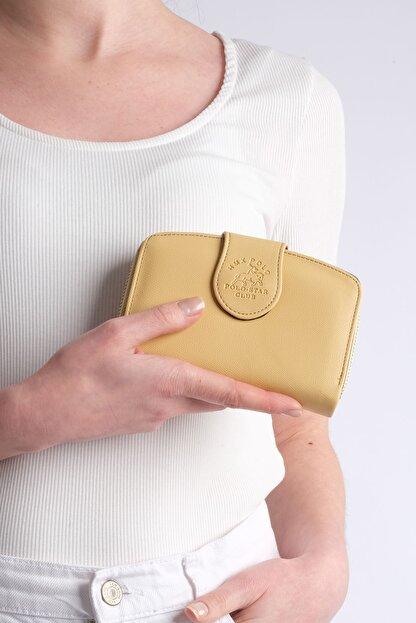 Marjin Kadın Sarı Telefon Bölmeli Cüzdan Forita