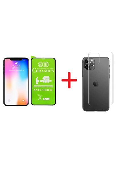 Go Aksesuar Iphone 11 Arka Nano Cam + Iphone 11 Tam Kaplayan Aa Kalite Nano Ekran Koruyucu