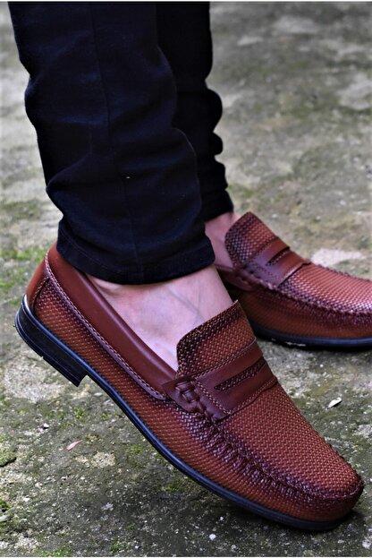 ALBİDÜNYA Erkek Taba Ortopedik Tabanlı Baskı Detay Modelli Günlük Ayakkabı