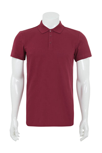 adidas Erkek T-Shirt - Ess Base Polo Erkek T-Shirt Bordo - CZ5974