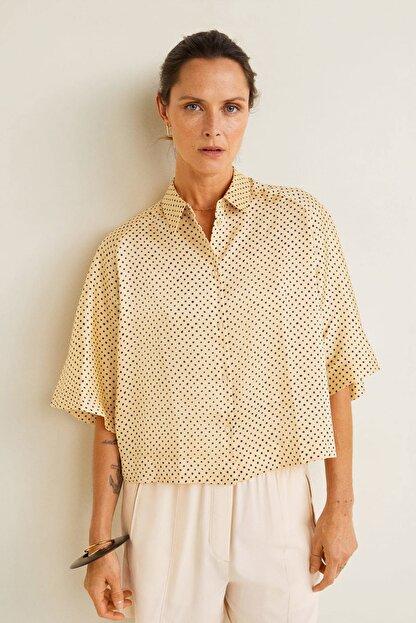 Mango Kadın Sarı Puantiyeli Bluz 41065811