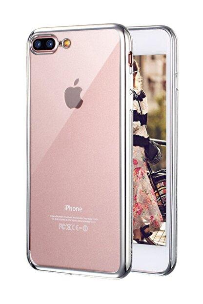 Microsonic Apple iPhone 8 Plus Kılıf Flexi Delux Gümüş