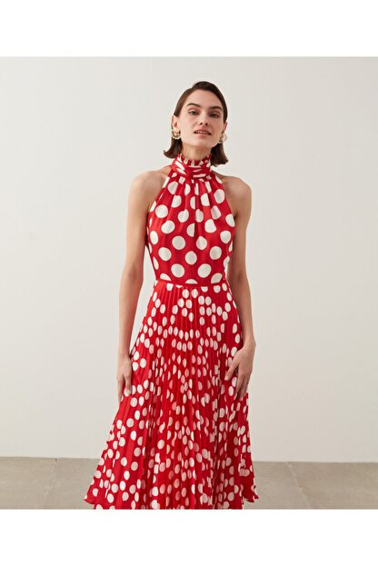 İpekyol Puantiye Desen Elbise