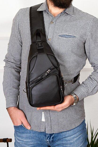 Leyl Yıkama Deri Göğüs Çantası Kulaklık Ve Şarj Çıkışlı Tek Kol Çarpraz Bodybag Mini Sırt Çanta