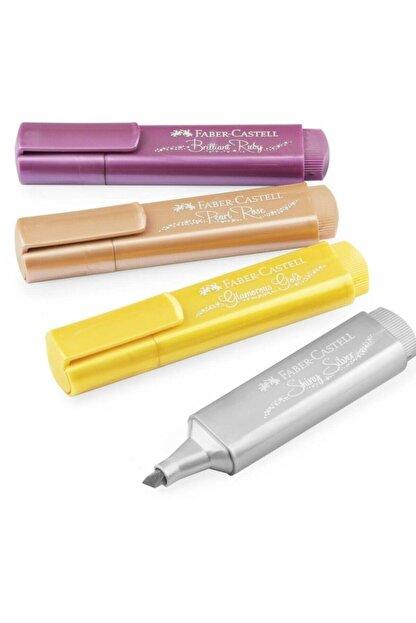 Faber Castell Metalik Renk Fosforlu Kalem 4'lü