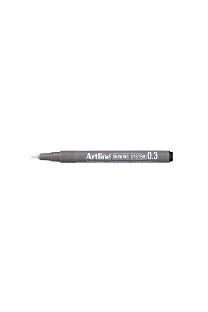 artline Siyah Teknik Çizim Kalemi  0.3