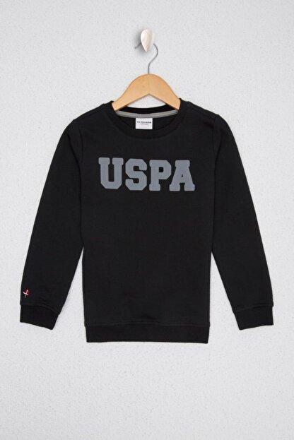 US Polo Assn Erkek Çocuk Siyah Basic Sweatshirt