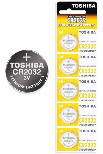 J-TECH Toshiba Cr2032 3v Lithium Anakart Bios Kumanda Tartı Saat 5'li Pil