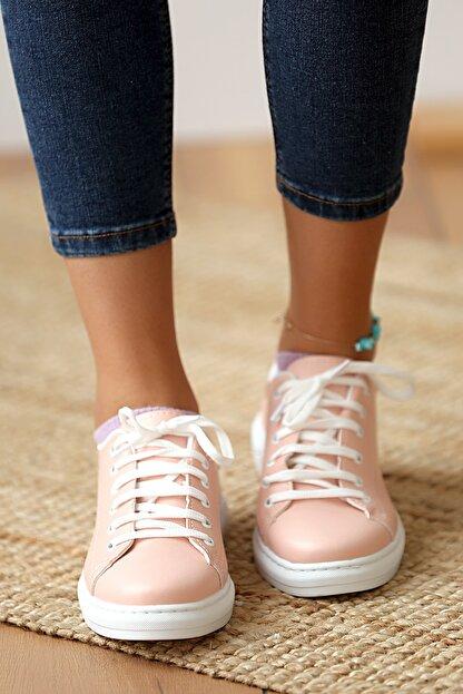 Pembe Potin Kadın Pudra Casual Ayakkabı