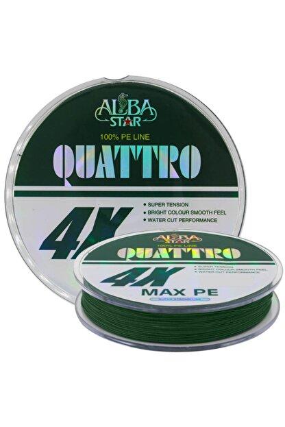 AlbaStar Quattro 4x İp Misina GREEN 0.18MM - 300M - 16.8KG