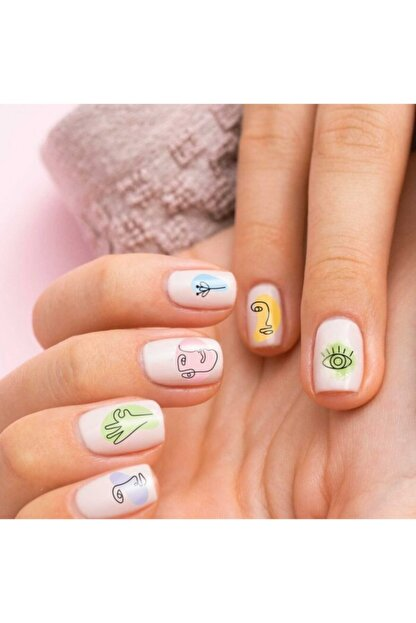 Artikel Silüet Tırnak Dövmesi,tırnak Tattoo,nail Art ,tırnak Sticker.