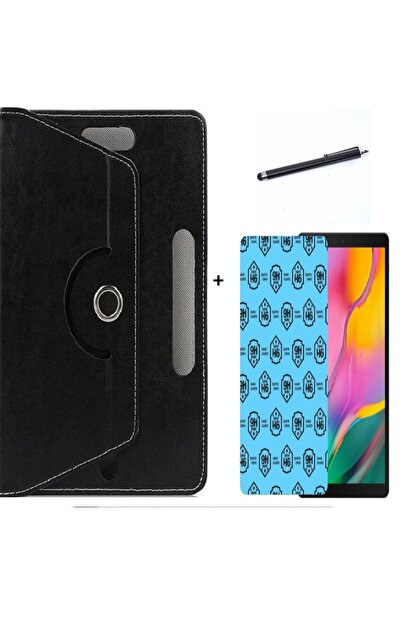 """Mobilite Vorcom S8 Pro 8"""" Uyumlu 3 Lü Set Universal Tablet Kılıfı Nano Ekran Koruma Ve Kalem"""