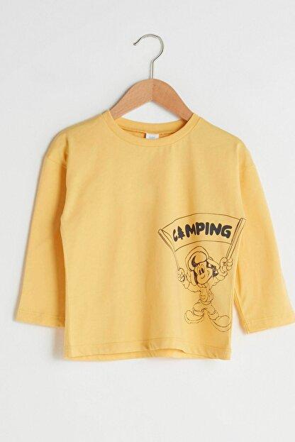 LC Waikiki Erkek Bebek Pastel Sarı Fyr T-Shirt