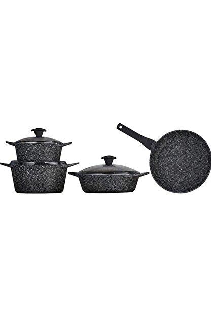 Falez Doa Cast Granit Döküm Set 7 Parça-black
