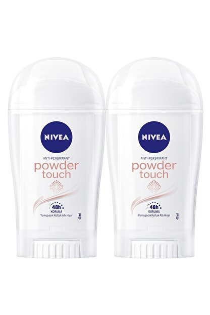 Nivea Powder Touch Kadın Deodorant Stick 40 ml  2'Li