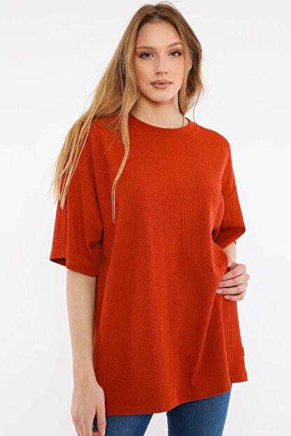 ALEXANDERGARDI Kadın Kırmızı Oversize T-shirt