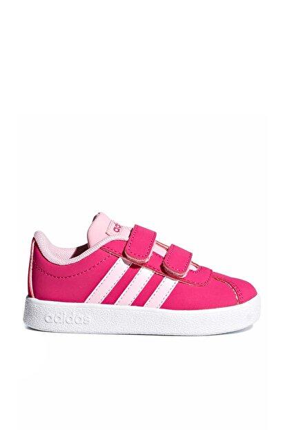adidas Vl Court 2.0 Cmf I Fuşya Pembe Kız Çocuk Sneaker Ayakkabı 100398772