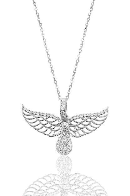 Söğütlü Silver Kadın Gümüş Kanat Kolye SGTL9108