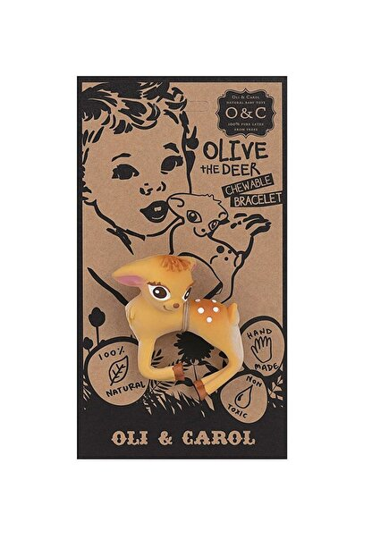 OLI CAROL Organik Diş Kaşıyıcı ve Banyo Oyuncağı