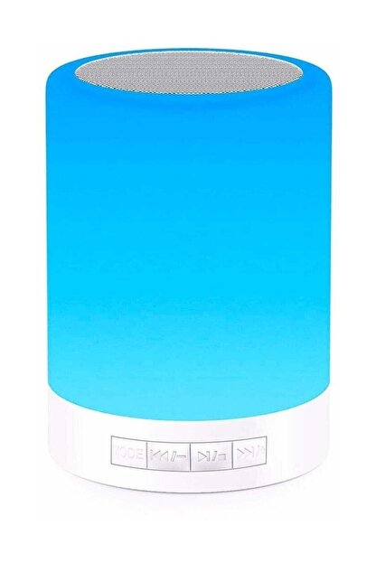 Escom Renk Değiştiren Led Işıklı Taşınabilir Kablosuz Bluetooth Hoparlör