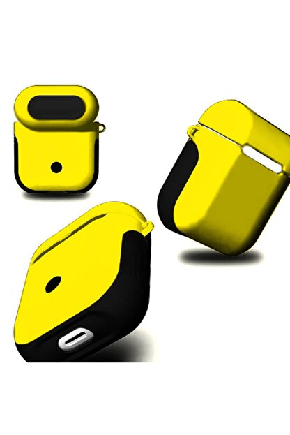 carına vannı Airpods Uyumlu Çift Renkli Airpods Koruyucu Kılıf