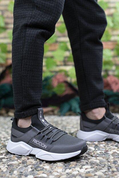 Riccon Unisex Füme Beyaz Sneaker 0012072