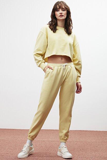 GRIMELANGE CLEMENTINE Kadın Sarı Renk Yuvarlak Yaka Eşofman Takımı