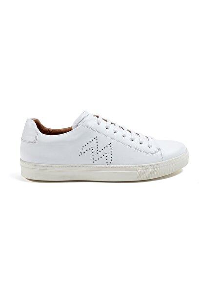 Hemington Erkek  Beyaz El Yapımı Deri Sneakers