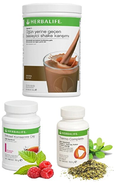 Herbalife Çikolata Shake Ahududu Aromalı Çay Thermo Complete Set